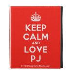 [Crown] keep calm and love pj  iPad Cases
