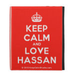 [Crown] keep calm and love hassan  iPad Cases