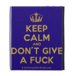 [Dancing crown] keep calm and don't give a fuck  iPad Cases