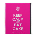 [Cupcake] keep calm and eat cake  iPad Cases