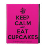 [Cupcake] keep calm and eat cupcakes  iPad Cases