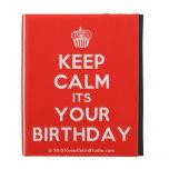 [Cupcake] keep calm its your birthday  iPad Cases