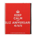 [Crown] keep calm and feliz aniversario 4/11/11  iPad Cases