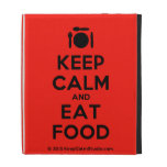 [Cutlery and plate] keep calm and eat food  iPad Cases