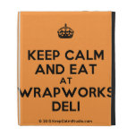 [Crown] keep calm and eat at wrapworks deli  iPad Cases