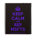 [Crown] keep calm and rep msfts  iPad Cases