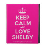 [Knitting crown] keep calm and love shelby  iPad Cases
