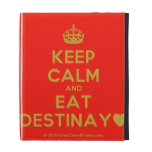 [Crown] keep calm and eat destinay♥  iPad Cases