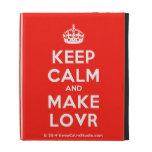 [Crown] keep calm and make lovr  iPad Cases