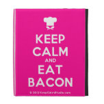 [Chef hat] keep calm and eat bacon  iPad Cases