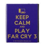 [Computer] keep calm and play far cry 3  iPad Cases