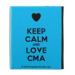 [Love heart] keep calm and love cma  iPad Cases