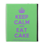 [Crown] keep calm and eat cake  iPad Cases