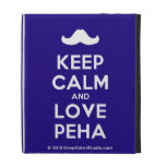 [Moustache] keep calm and love peha  iPad Cases
