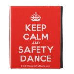 [Crown] keep calm and safety dance  iPad Cases