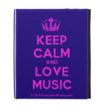 [Dancing crown] keep calm and love music  iPad Cases