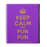 [Crown] keep calm and pun pun  iPad Cases