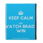 [Crown] keep calm and watch brady win  iPad Cases