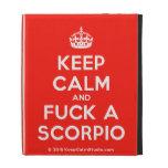 [Crown] keep calm and fuck a scorpio  iPad Cases