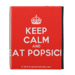 [Crown] keep calm and eat popsick  iPad Cases