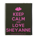 [Two hearts] keep calm and love sheyanne  iPad Cases