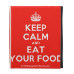 [Crown] keep calm and eat your food  iPad Cases