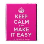 [Crown] keep calm and make it easy  iPad Cases