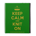 [Knitting crown] keep calm and knit on  iPad Cases