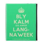 [Crown] bly kalm dis amper lang- naweek  iPad Cases