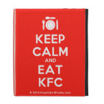 [Cutlery and plate] keep calm and eat kfc  iPad Cases