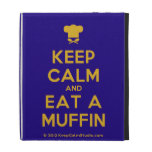 [Chef hat] keep calm and eat a muffin  iPad Cases