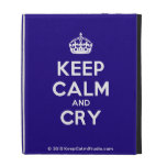 [Crown] keep calm and cry  iPad Cases