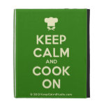 [Chef hat] keep calm and cook on  iPad Cases