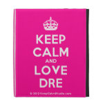 [Crown] keep calm and love dre  iPad Cases