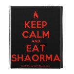 [Campfire] keep calm and eat shaorma  iPad Cases