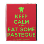 [Chef hat] keep calm and eat some pasteque  iPad Cases