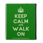 [Crown] keep calm and walk on  iPad Cases