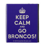 [Crown] keep calm and go broncos!  iPad Cases