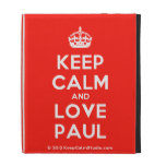 [Crown] keep calm and love paul  iPad Cases