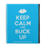 [Two hearts] keep calm and buck up  iPad Cases