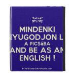 [UK Flag] mindenki nyugodjon le a picsába and be as an english !  iPad Cases