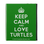[Crown] keep calm and love turtles  iPad Cases