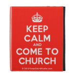 [Crown] keep calm and come to church  iPad Cases