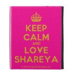 [Crown] keep calm and love shareya  iPad Cases