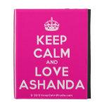 [Crown] keep calm and love ashanda  iPad Cases
