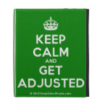 [Crown] keep calm and get adjusted  iPad Cases