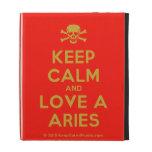 [Skull crossed bones] keep calm and love a aries  iPad Cases