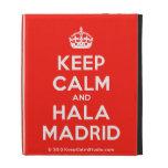 [Crown] keep calm and hala madrid  iPad Cases