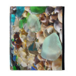 iPAD cases Blue Sea Glass Shells Agates Summer
