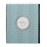 IPad Cover - Chevron Pattern Modern Stripe Zig Zag iPad Folio Case